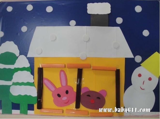 幼儿圣诞节图画; 幼儿园墙饰:圣诞_幼儿园环境布置图片; 幼儿装饰画