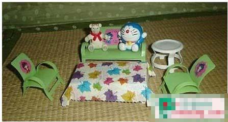 塑料瓶矿泉水瓶手工做小凳子 - 儿童废旧利用图片
