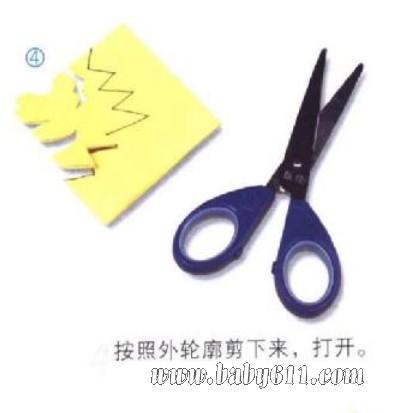 儿童剪纸教学:小老虎(4)