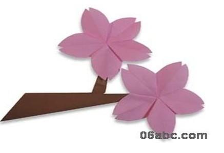 幼儿手工制作:紫色的花