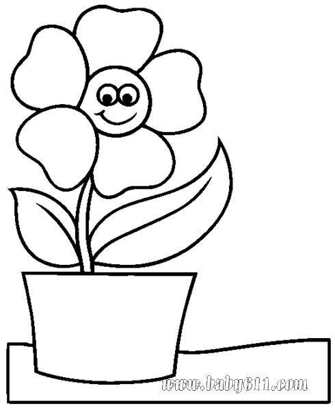 幼儿涂色卡图片:太阳花