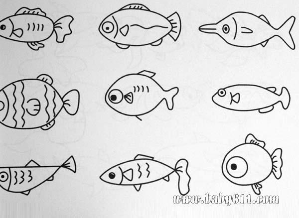 简笔画动物篇 鱼类