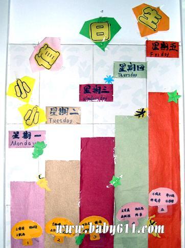管理 幼儿园环境布置图片 生活环境  幼儿园生活环境布置图片:值日生