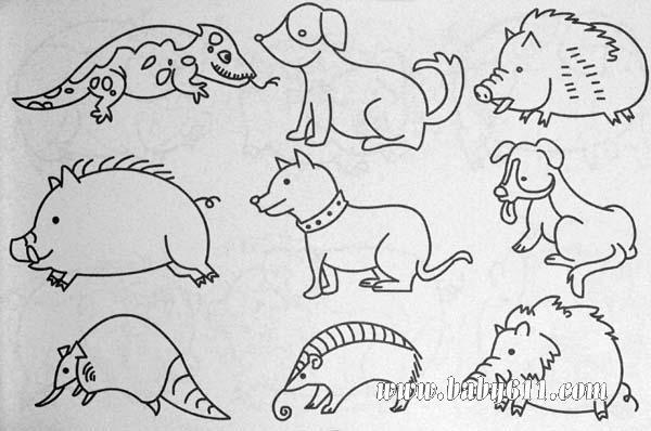 动物篇 - 儿童动物简笔画