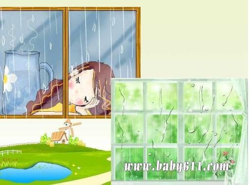 幼儿园大班语言教案《听雨》