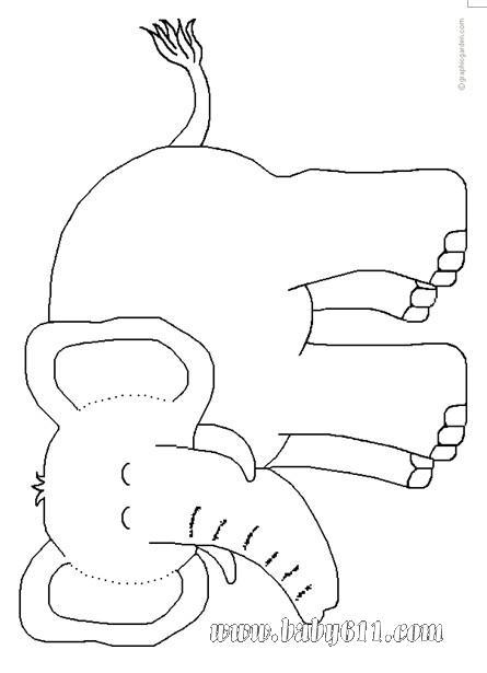 大象水风景简笔画