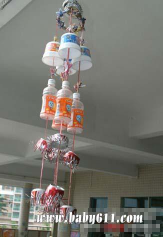 小学美术教案_儿童手工废旧塑料瓶子制作:风铃 - 儿童废旧利用