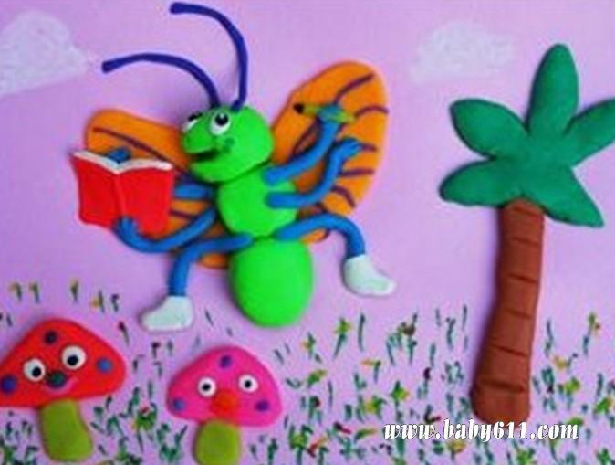 幼儿园教师毛线贴画