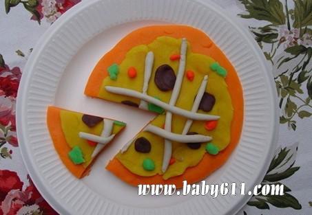 橡皮泥手工雕塑:生日蛋糕 - 幼儿园橡皮泥