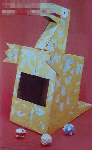 园教案大全 幼儿园手工技能教案 儿童废旧利用  儿童手工废旧纸盒制作
