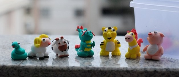幼儿园中班故事大全_橡皮泥手工雕塑:小动物 - 幼儿园橡皮泥