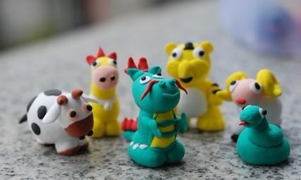 橡皮泥手工雕塑 小动物1
