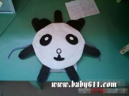 儿童手工废旧制作:熊猫头纸飞碟