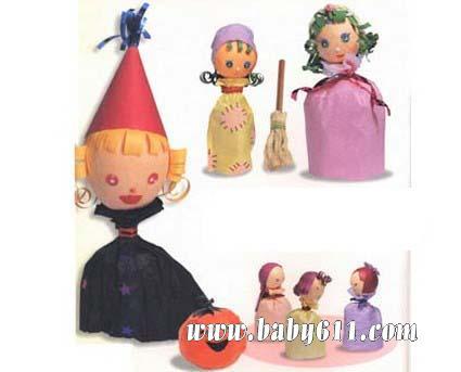 儿童手工废旧制作:木偶剧娃娃(灰姑娘)