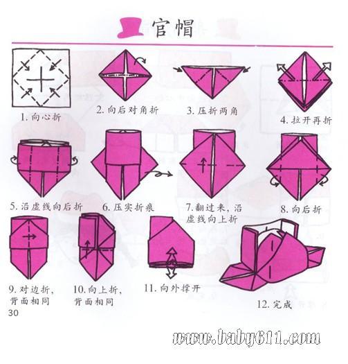 妈咪爱婴网首页 幼儿园教案大全 幼儿园手工技能教案 儿童手工折纸