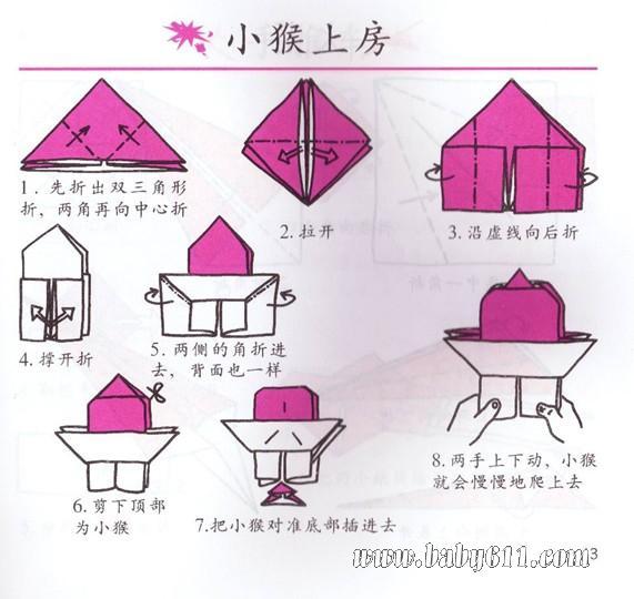 儿童手工折纸教学:小船 - 儿童手工折纸 儿童手工折纸教学:蘑菇