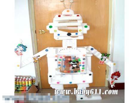 儿童手工废旧泡沫制作:机器人         儿童手工废旧纸盒制作:大卡车