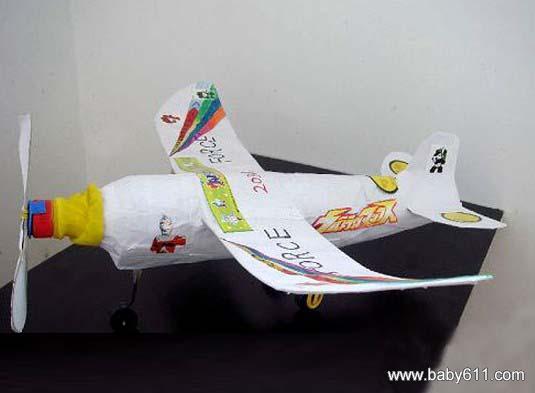 儿童手工废旧纸壳制作:飞机