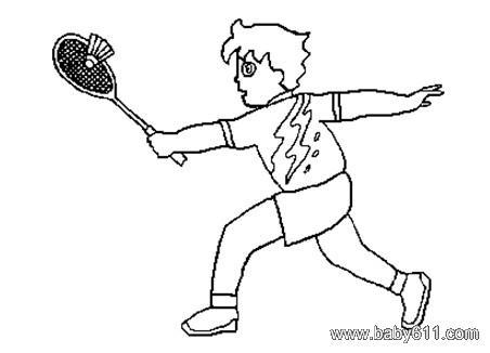 球的简笔画_羽毛球拍简笔画图片教程