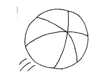 一个气球简笔画; 篮球