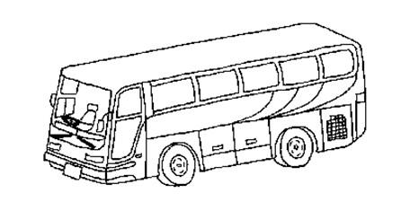 儿童简笔画 公共汽车