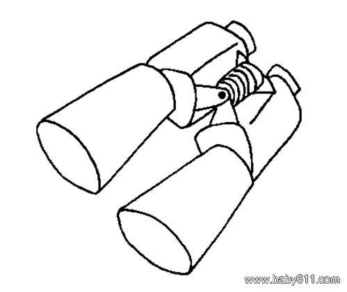 儿童简笔画:望远镜
