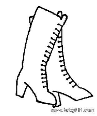 儿童简笔画:靴子