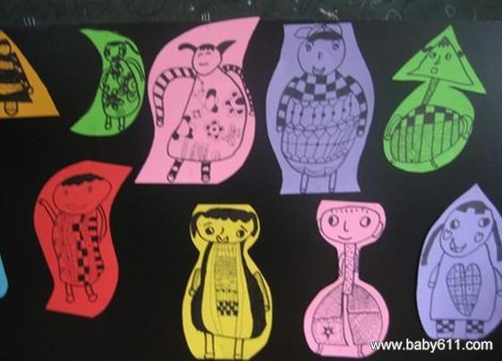 幼儿园大班美术活动教案:水中的哈哈镜