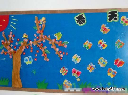 幼儿园春天主题墙装饰 春天来了1