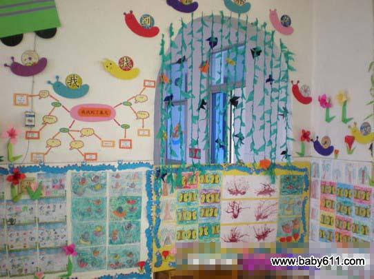 幼儿园春天主题墙装饰:春天来了2         幼儿园春天幼儿