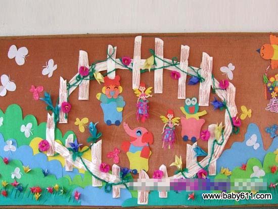 幼儿园春天主题墙装饰:热闹的春天