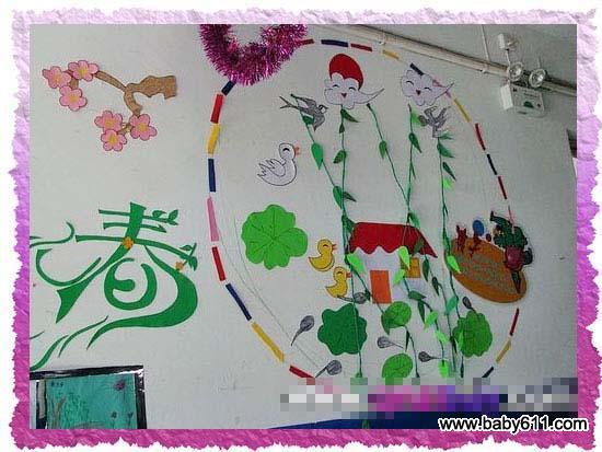幼儿园春天主题墙装饰:迎春