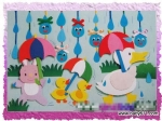 幼sxda园春天主题墙装饰:喜迎春雨