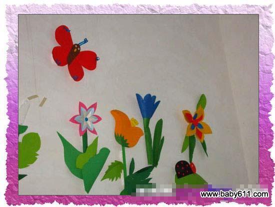 幼儿园春天主题墙装饰 蝶恋花