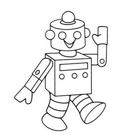 儿童简笔画 机器人