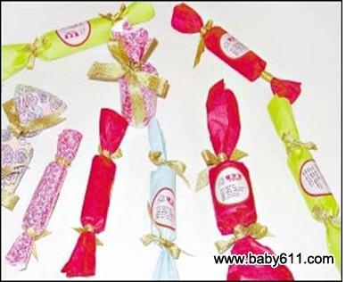 幼儿园中班创意手工活动:手工——包糖果