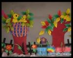 幼sxda园春天环境装饰图片:快乐的小鸟