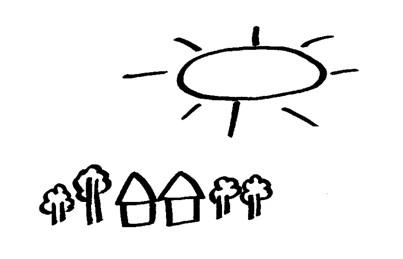 幼儿简笔画:太阳和树