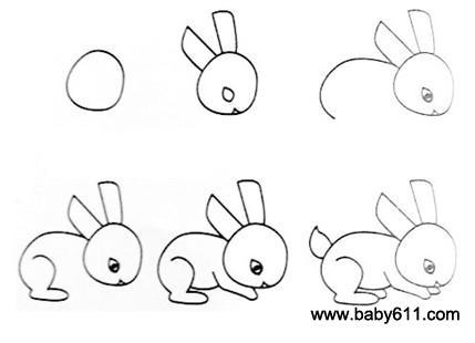 幼儿简笔画 小白兔