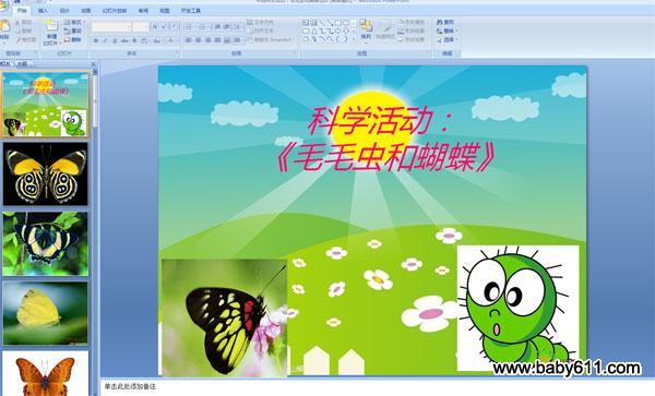 园中班科学活动PPT课件 毛毛虫和蝴蝶