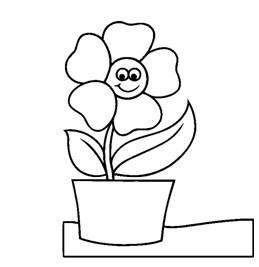 幼儿简笔画花朵