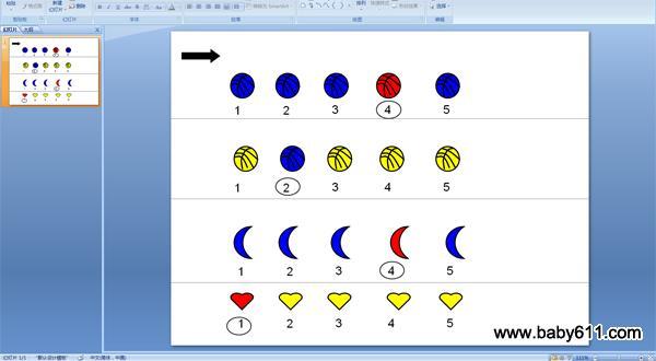 幼儿园小班情境数学ppt课件:1-5的序数辨识