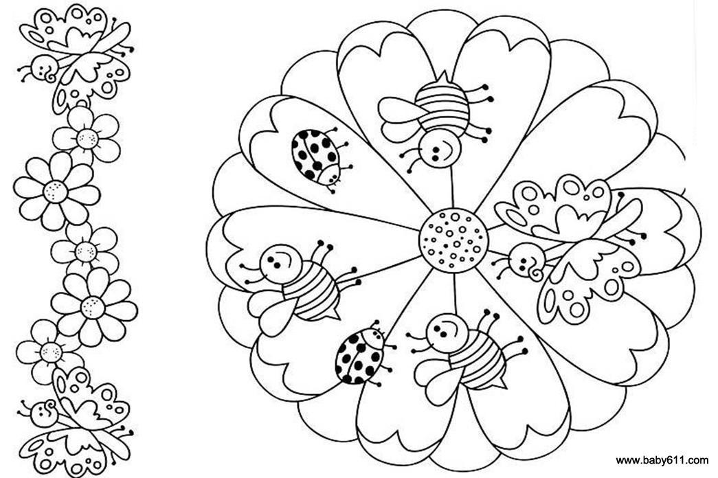 儿童涂色卡图片:可爱的小动物