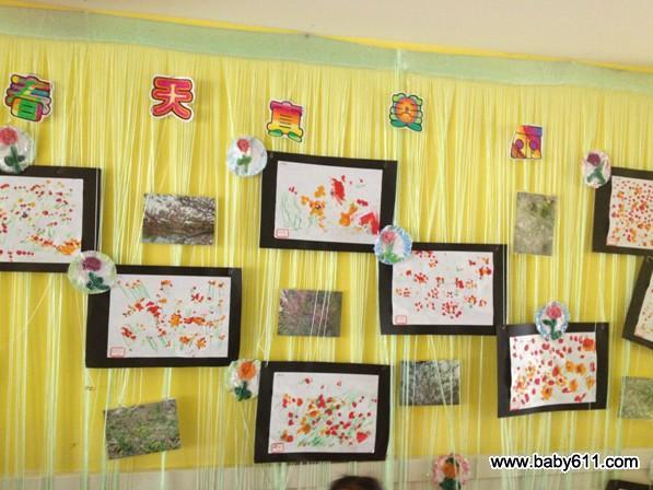 幼儿园小班环境创设设计主题:春天真美丽图片