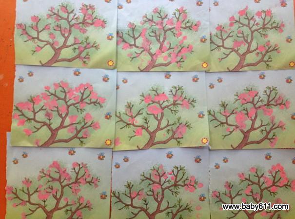 幼儿园小班教案 春天教案    通过孩子的手指点画,添画,粘贴画,折纸