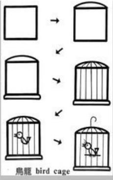 儿童益智简笔画:鸟笼 bird cage