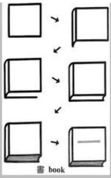 儿童益智简笔画:书 book