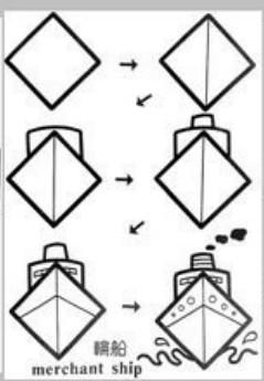 儿童益智简笔画:帆船