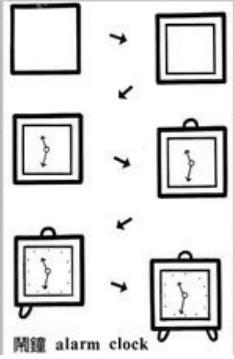 儿童益智简笔画:时钟