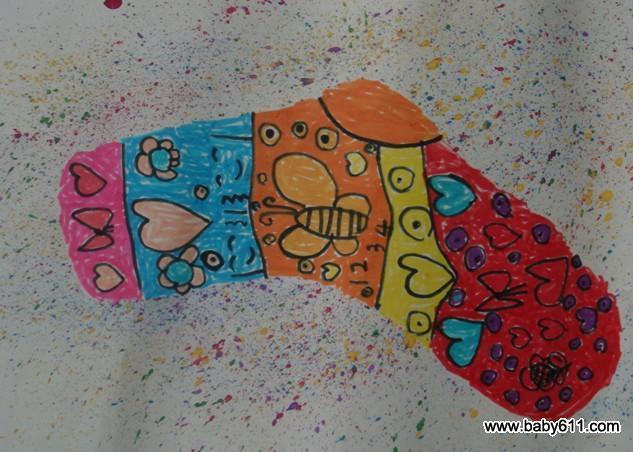幼儿园中班上学期绘画活动:袜子上的秘密